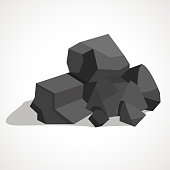 Black minerals from the mine.Coal, which is mined in the mine.Mine Industry single icon in cartoon style vector symbol stock illustration.