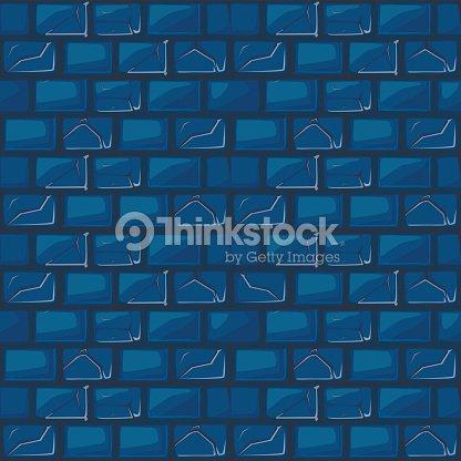 Texture De Mur Pierre Bleue De Dessin Animé Clipart Vectoriel
