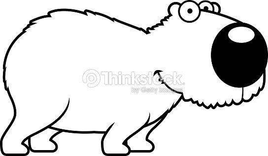 Cartoon Capybara Smiling Vector Art Thinkstock