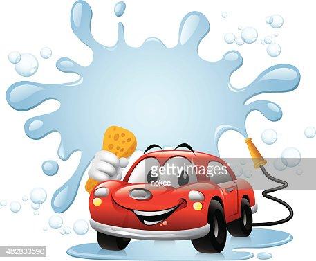 cartoon car car wash vector art getty images