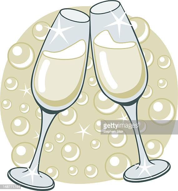 champagne flute stock illustrations and cartoons getty