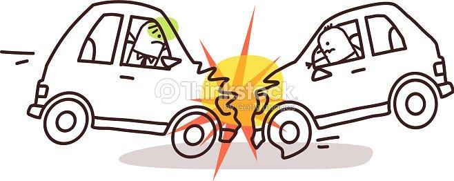 Personnages de dessins anim s et voitureaccident de voiture clipart vectoriel thinkstock - Coloriage cars accident ...