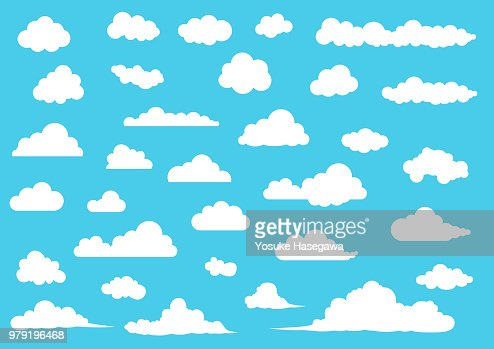 Cartoon Cloud set, vector illustration : Vector Art