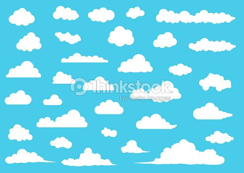 Cartoon Cloud set, vector illustration : stock vector