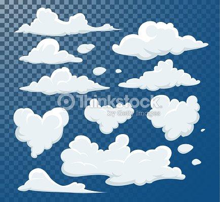 Dibujos Animados De Nubes Aisladas En La Colección De Vectores De