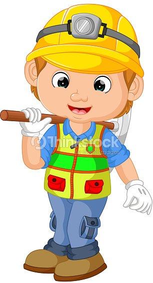 Comic Bauarbeiter Handwerker Vektorgrafik Thinkstock