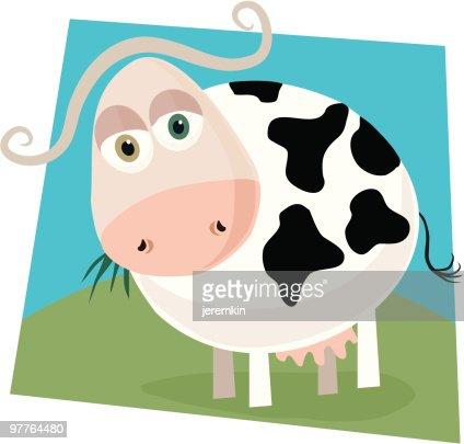 Cartoon Cow : Vector Art