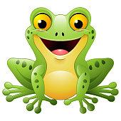 Vector illustration of Cartoon cute frog
