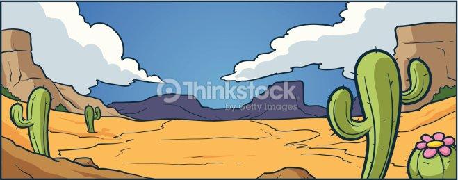 Cartoon Desert Background Stock Vector Thinkstock