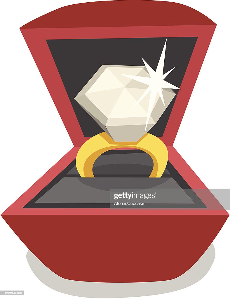Cartoon Diamond Ring Vector Art | Getty Images