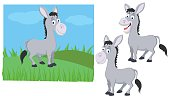 Donkey with 2 key poses and background