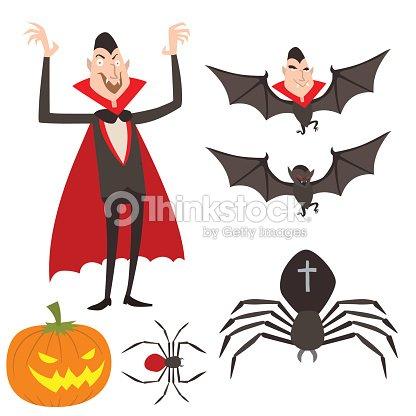 Cartoon Dracula Vector Symbols Vampire Icons Character Funny Man
