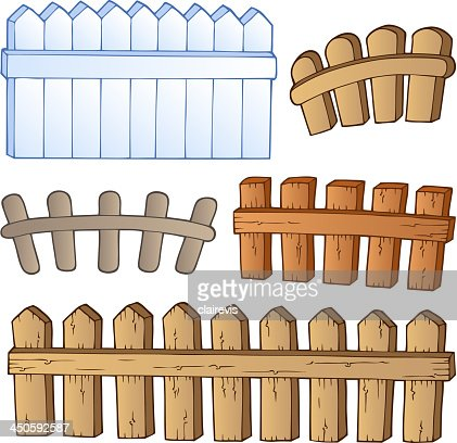 Cartoon Fences Collection Vector Art Getty Images - Cartoon fence clip art