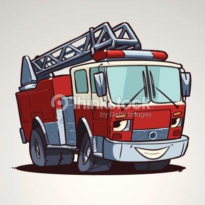Personnage Cartoon Camion De Pompier Clipart vectoriel   Thinkstock