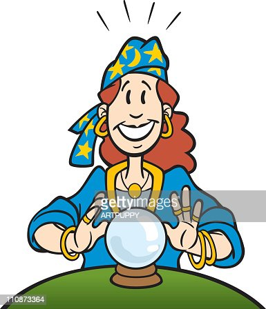 Cartoon Fortune Teller : Vector Art