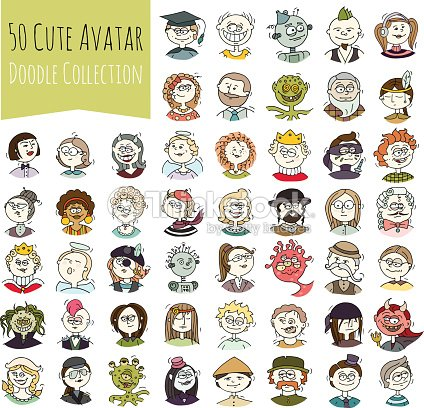 Cartoon Funny User Avatars stock vector - Thinkstock