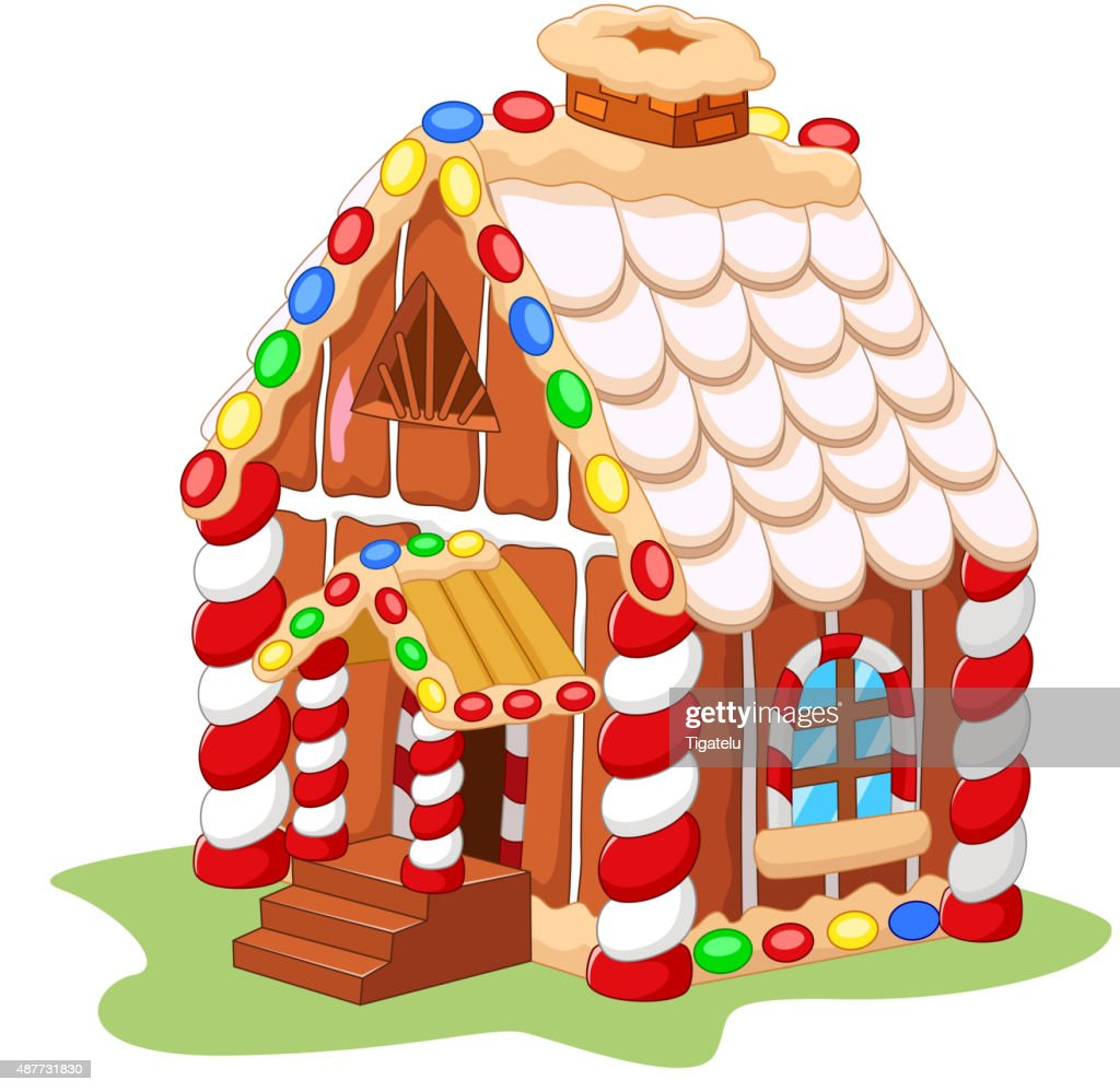 cartoon gingerbread house vector art thinkstock rh thinkstockphotos com gingerbread house clipart images gingerbread house clipart png