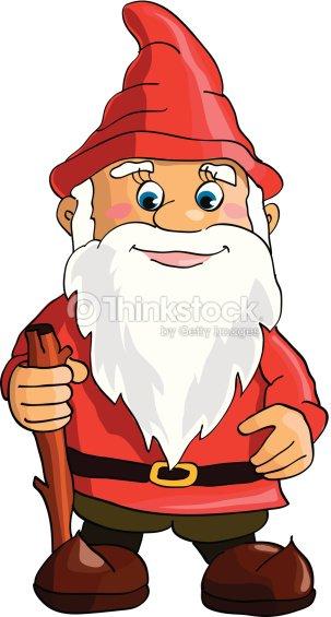 Cartoon gnome vector art thinkstock - Clipart weihnachtswichtel ...