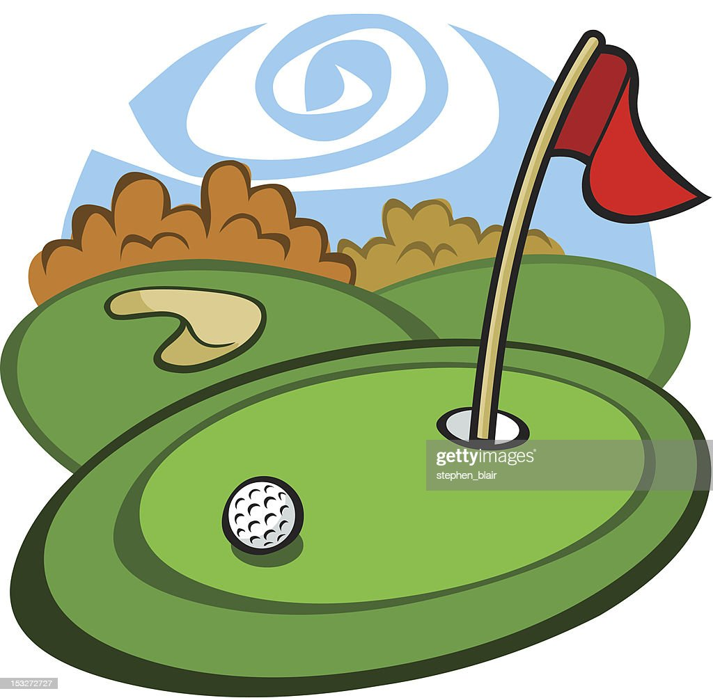 cartoon golf course vector art getty images vector golf ball problem vector golf ball tees