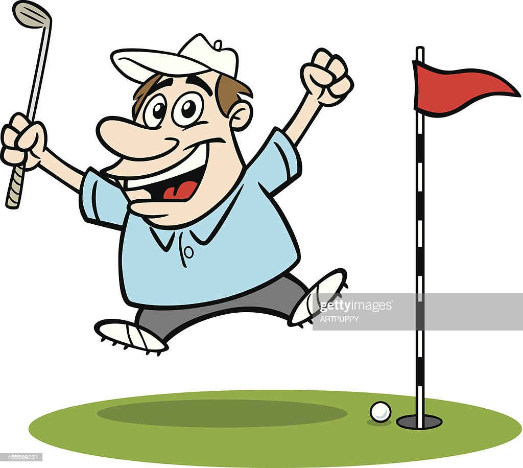 Cartoon Guy Golfing Vector Art Getty Images
