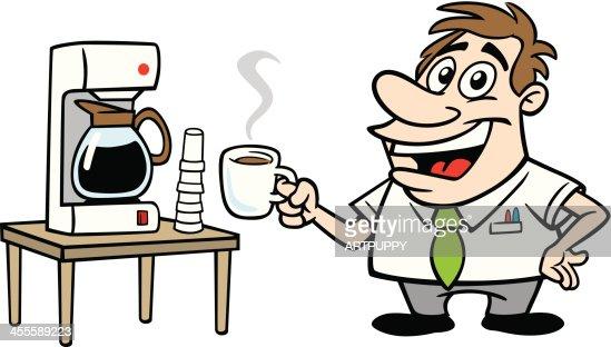 Cartoon Coffee Maker ~ Cartoon guy with coffee vector art getty images