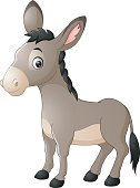 Illustration of Cartoon happy donkey