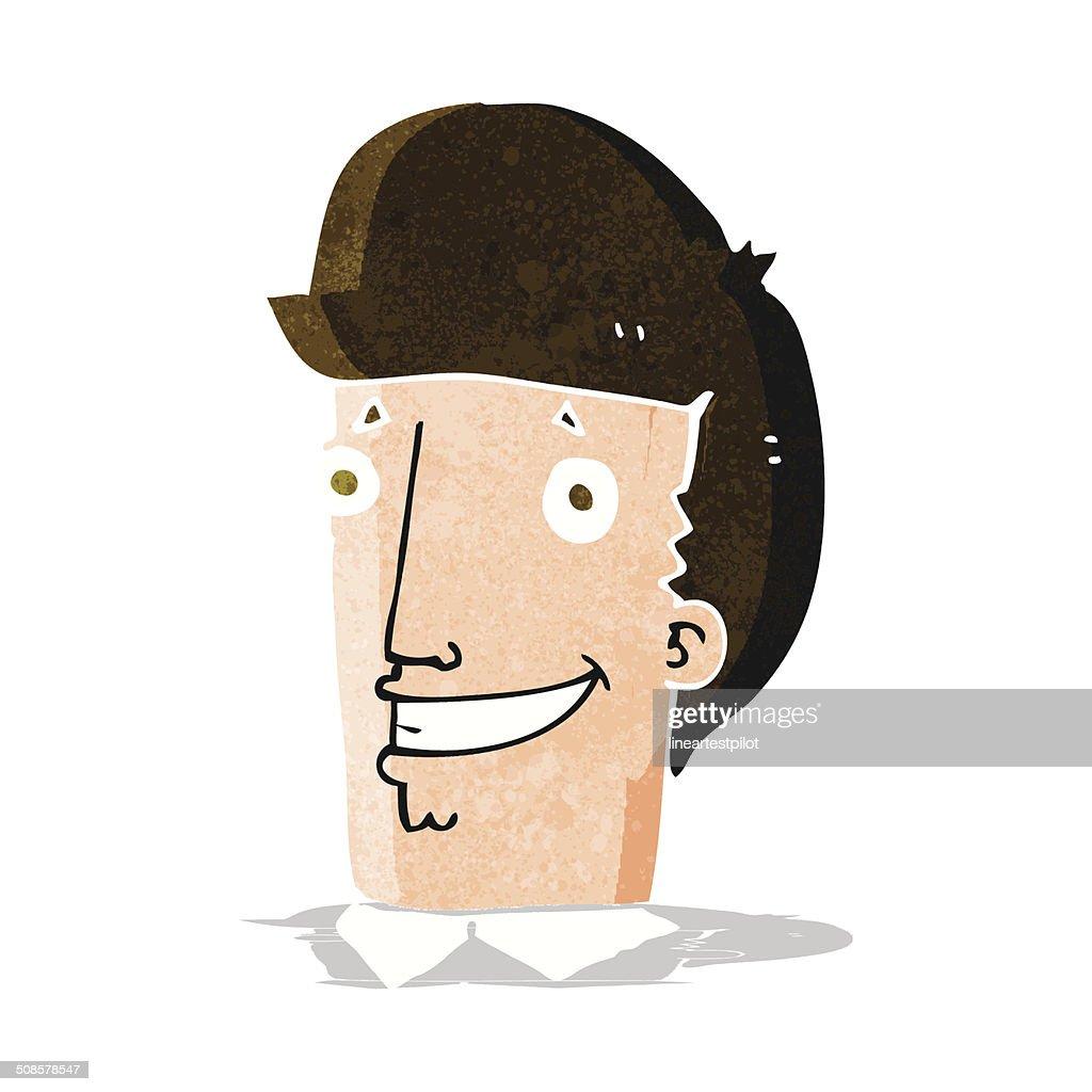 cartoon happy man : Vector Art