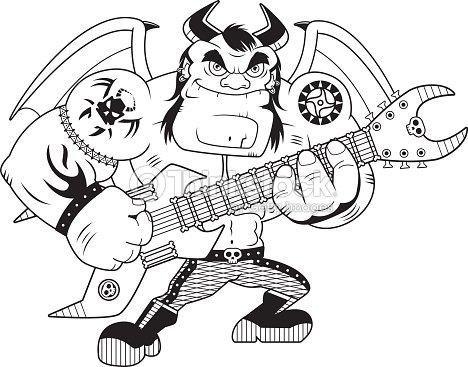 Dessin heavy metal d mon clipart vectoriel thinkstock - Dessin ange demon ...