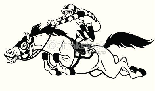 Dessin de cheval de course clipart vectoriel thinkstock - Dessin cheval de course ...