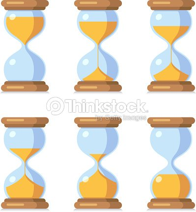 cartoon hourglass antique sand clock sprite sheet animation vector