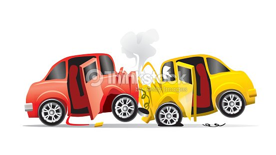 Accident de voiture clipart vectoriel thinkstock - Accident de voiture dessin ...