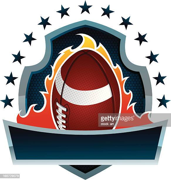 A cartoon image of a football banner