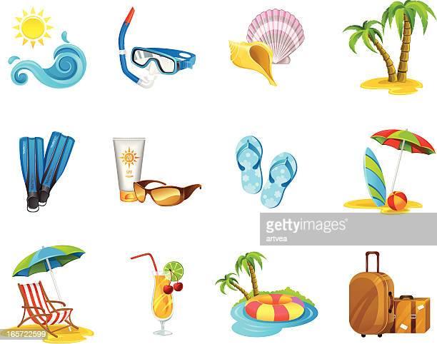 Urlaub Icon-Set