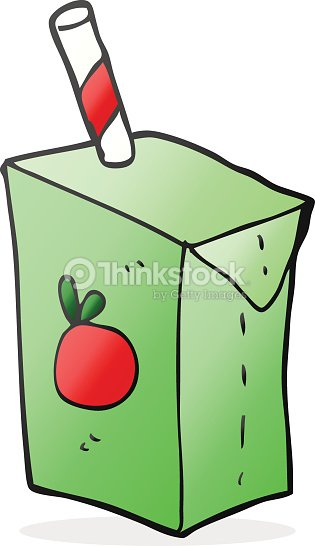 Cartoon Juice Box Vector Art | Thinkstock