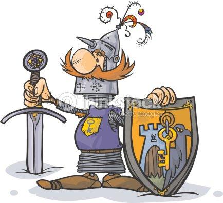 Chevalier dessin anim clipart vectoriel thinkstock - Dessin anime chevalier de la table ronde ...