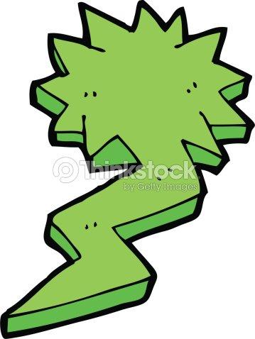 Cartoon Lightning Bolt Symbol Vector Art Thinkstock