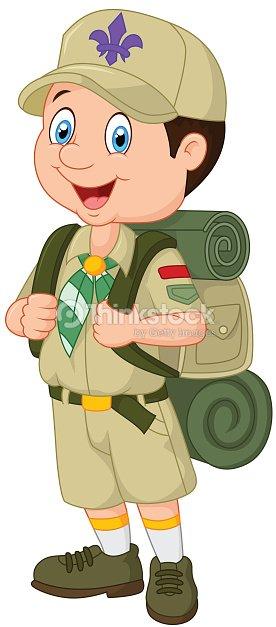 カットイラストlittle boy scout ベクトルアート thinkstock