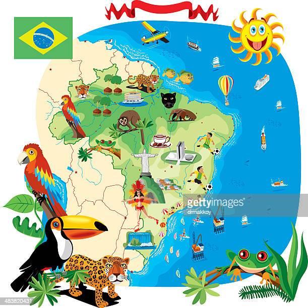 Cartoon Karte von Brasilien
