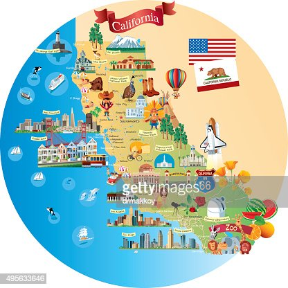 Cartoonmapofcaliforniavectoridsa - Californiamap