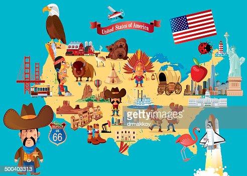 Cartoon Map Of Florida Vector Art Getty Images - Cartoon us map