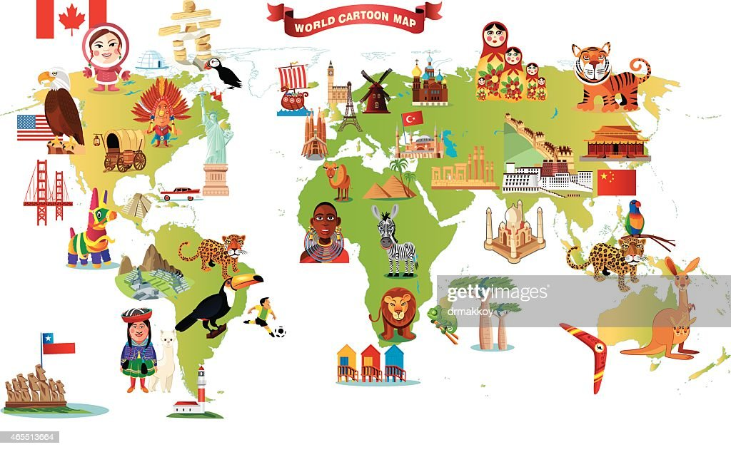 Aliexpress.com : Buy Color World Map Children&#39-s Wall Stickers TV ...