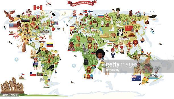 Dibujo mapa del mundo