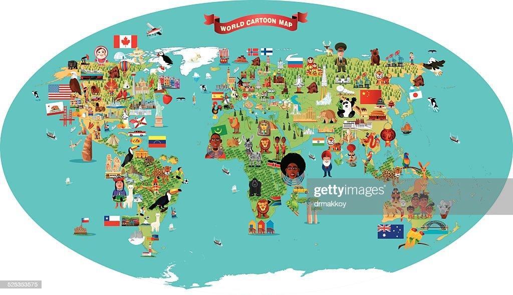 カットイラスト、地図の世界 ...
