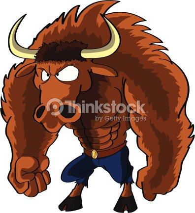 Cartoon Minotaur Character Vector Art Thinkstock