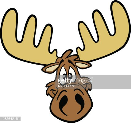 Moose face cartoon - photo#3