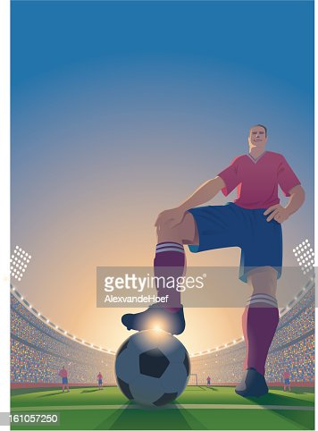 Dessin de football. : Clipart vectoriel