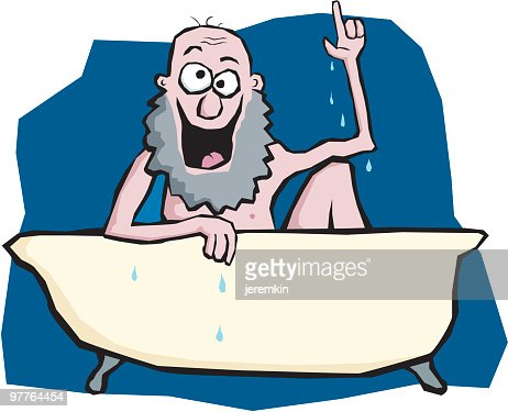 A Cartoon Of An Old Man In A Bathtub Vector Art Getty Images