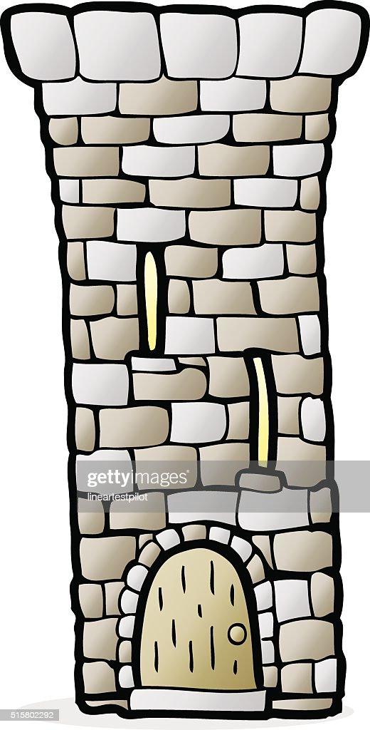 cartoon old castle tower vector art thinkstock rh thinkstockphotos com stone wall drawing clipart stone wall pattern clipart