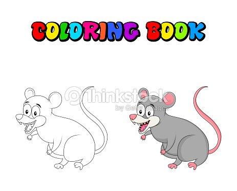Roedor Del Oposum De Dibujos Animados Para Colorear Libro Aislado ...