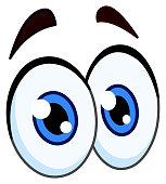 Vector cartoon pair of eyes